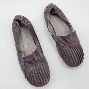 Chocolat Blu CAM 2 Ruched Leather Ballet Flats 8